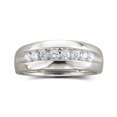 jcpenney.com | Mens 1/2 CT. T.W. Diamond Band 10K White Gold