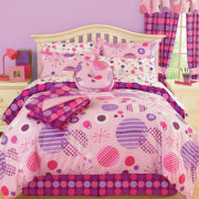 Rebound Polka Dots Complete Bedding Set with Sheets and Bonus Throw