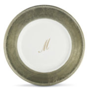 Monogrammed Chargers Dinnerware Set of 8