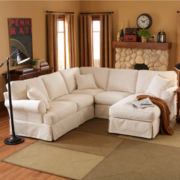 Friday Twill Slipcovered Sectional Group
