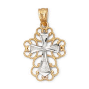 14K Gold Filigree Cross