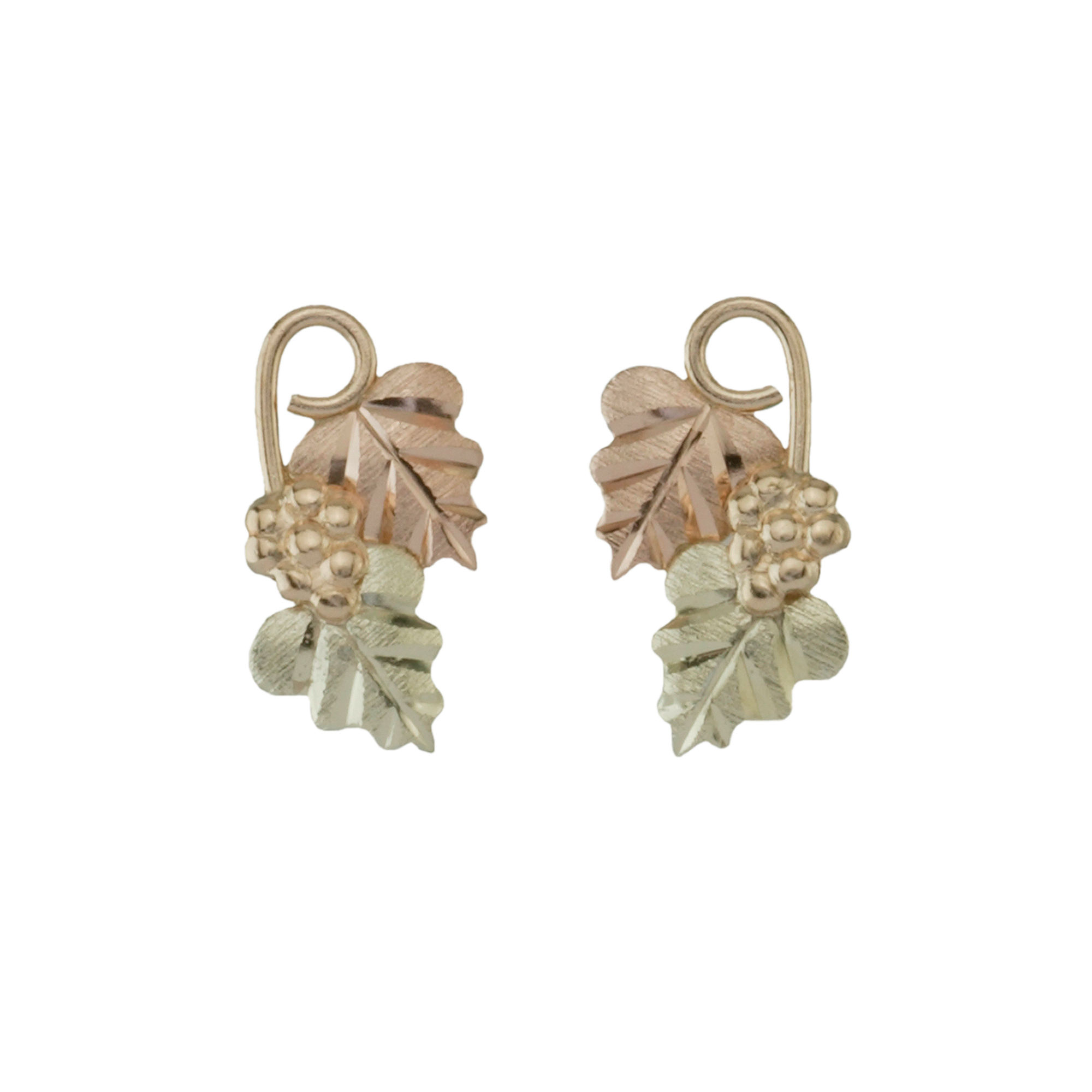 Black Hills Gold Jewelry by Coleman Leaf Earrings