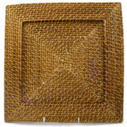 Square Rattan Chargers Set of 4