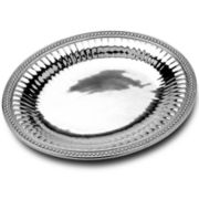 Wilton Armetale® Flutes & Pearls Medium Oval Serving Tray