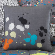 Splatter Square Decorative Pillow