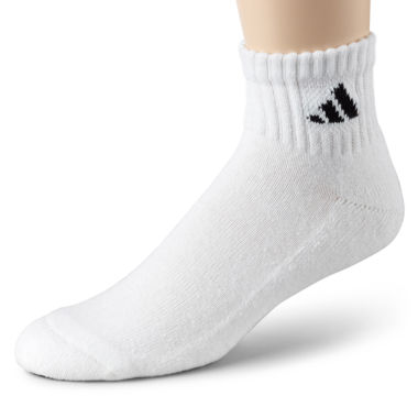 jcpenney.com | adidas® Mens 6-pk. Athletic Cushioned Quarter Socks