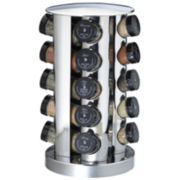 20-Jar Stainless Steel Spice Rack