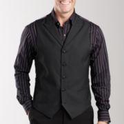 JF J. Ferrar® Black Herringbone Vest