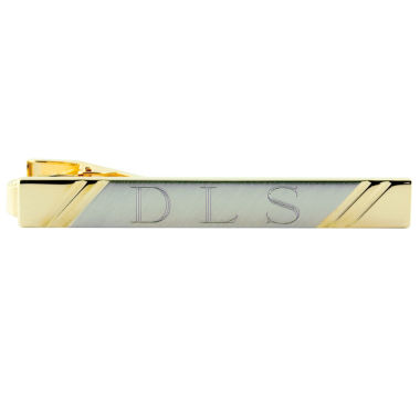 jcpenney.com | Engravable Two-Tone 22K Tie Bar