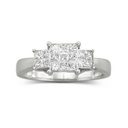 1/2 CT. T.W. Princess-Style Diamond Ring 10K White Gold