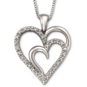 1/10 CT. T.W. Diamond Heart Pendant Sterling Silver