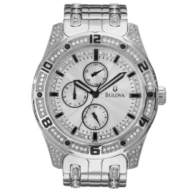 jcpenney.com | Bulova® Mens Crystal-Accent Watch 96C106