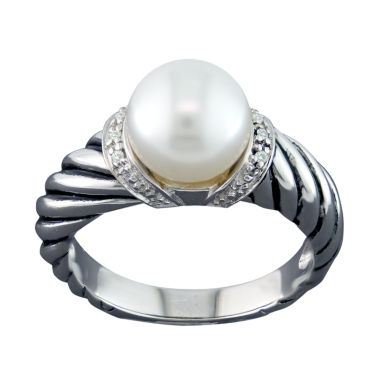 jcpenney.com | Cultured Freshwater Pearl & Diamond Accent Ring