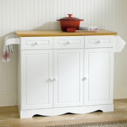 Avalon Kitchen Island with Towel Rack