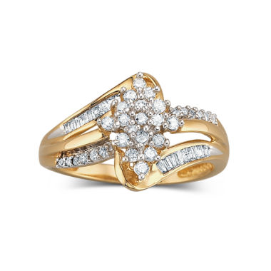 jcpenney.com | Diamond Cluster Ring 1/3 CT. T.W. 10K Gold