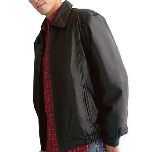 St. John's Bay Leather Bomber Jacket
