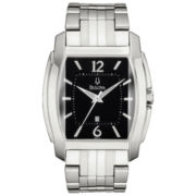 Bulova® Mens Stainless Steel Watch