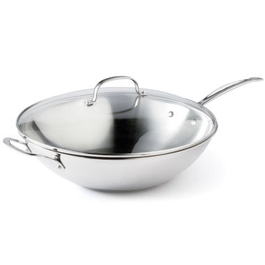 "jcpenney.com | Cuisinart® 14"" Stainless Steel Stir Fry Pan"
