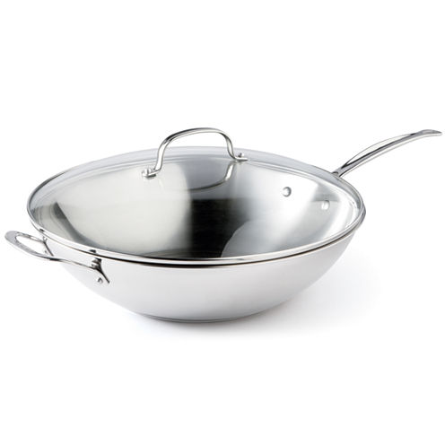 "Cuisinart® 14"" Stainless Steel Stir Fry Pan"