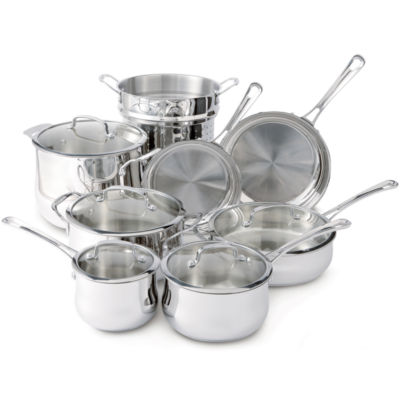 cuisinart contour 13pc stainless steel cookware set - Cuisinart Pots And Pans