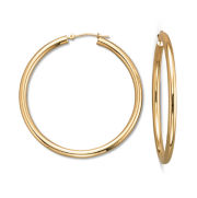 Gold Earrings, 10K Polished 44mm Hoops