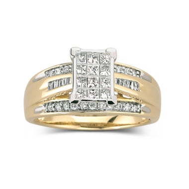 jcpenney.com | 1/2 CT. T.W. Diamond Bridal Ring 10K Gold