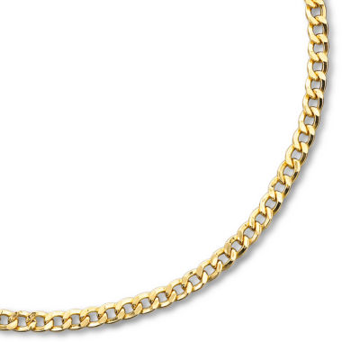 "jcpenney.com | Mens 10K Gold 22"" 2mm Semi-Solid Curb Chain Necklace"