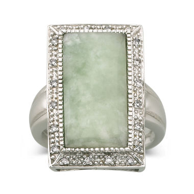 jcpenney.com | Jade & Diamond-Accent Ring Sterling Silver