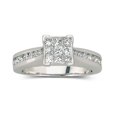 jcpenney.com | 1 CT. T.W. Diamond Engagement Ring 10K White Gold
