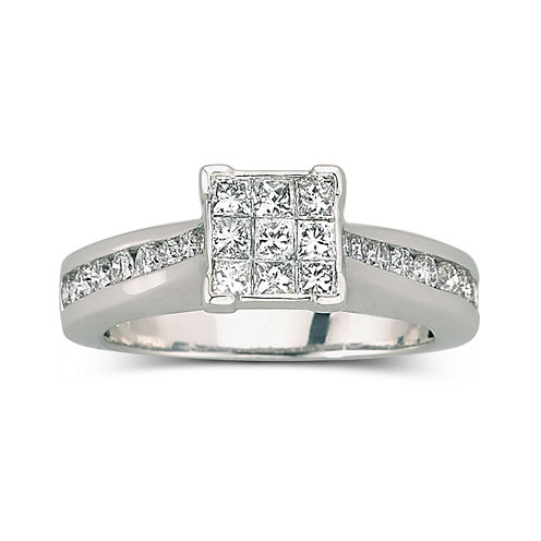 tw diamond engagement ring 10k white gold - Jcpenney Jewelry Wedding Rings