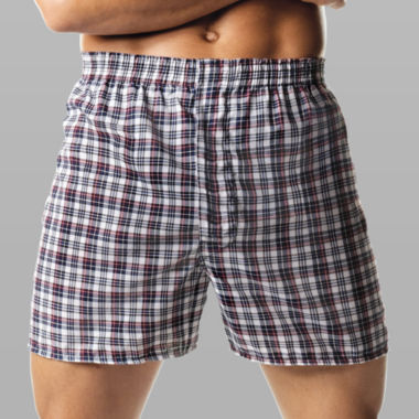 jcpenney.com | Hanes® 4-pk. ComfortBlend Woven Boxers–Big & Tall
