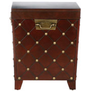 Nailhead End Table Trunk