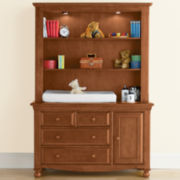 Bedford Monterey Changing Table or Hutch - Butternut
