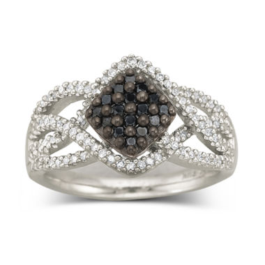 jcpenney.com | Sterling Silver Color-Enhanced Black Diamond Ring