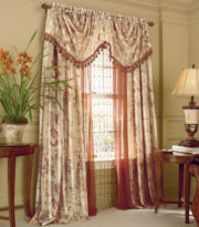 jcp home™ Everiste Floral Rod-Pocket Curtain Panel