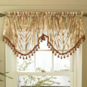 jcp home™ Everiste Floral Rod-Pocket Trumpet Valance