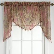 jcp home™ Adornment Rod-Pocket Shaped Valance