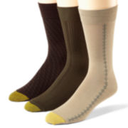 Gold Toe® 3-pk. Dress Bamboo Crew Socks