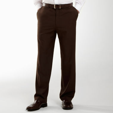 jcpenney.com | Haggar® eCLo™ Stria Classic-Fit Flat-Front Dress Pants