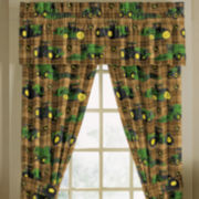 John Deere® Tractor and Plaid Window Treatments