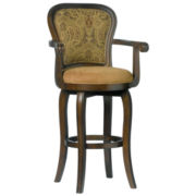 Regal Upholstered Swivel Barstool