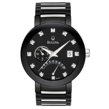 jcpenney.com | Bulova® Mens Black Diamond-Accent Watch 98D109