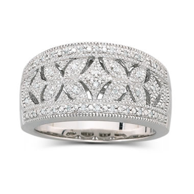 jcpenney.com | Vintage Inspirations™ 1/10 CT. T.W. Diamond Vintage Ring Sterling Silver