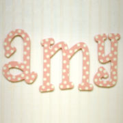 Pink Polka Dot Wall Letters
