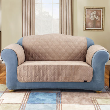 jcpenney.com | SURE FIT® Quilted Suede Pet Furniture Cover Collection