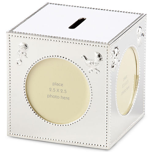 Carter's® Silver Block Baby Bank