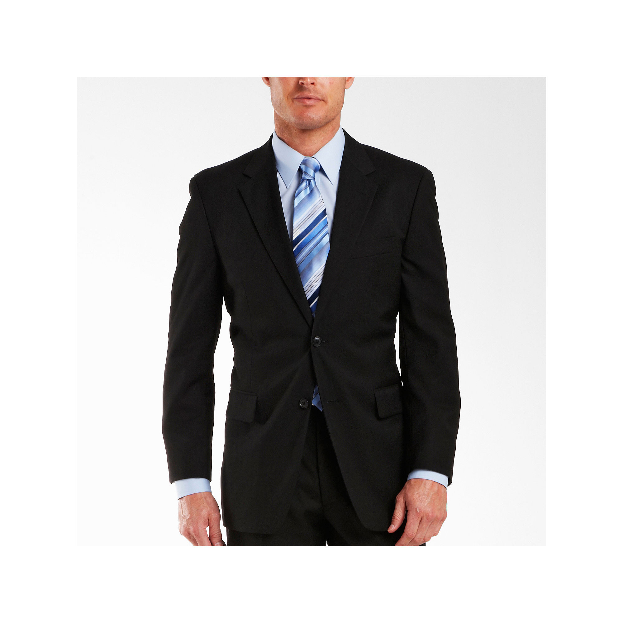 Adolfo Black Suit Jacket - Portly