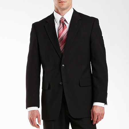 Adolfo Black Stripe Suit Jacket