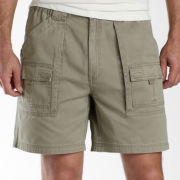 St. John's Bay® Side-Elastic Cargo Shorts