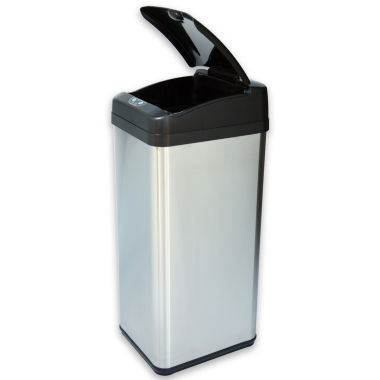 jcpenney.com | iTouchless® 13-Gal. Extra-Wide Stainless Trash Can